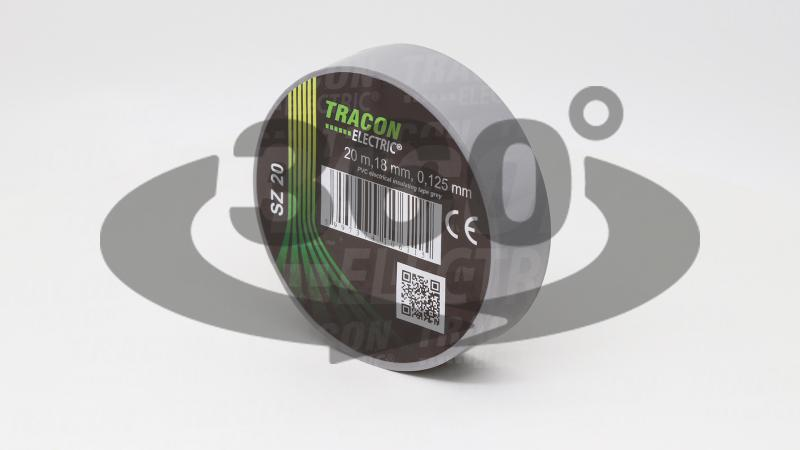 Páska izolačná SZ20 sivá 20m x 18mm PVC 0-90° 01 three dim watermark