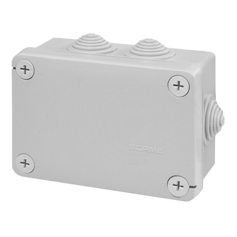 Škatuľa inštalačná 689.006 CUBIK, 150x110x70mm, HALOGEN FREE, UV odolná, IP55 s prechodkami SCAME 689006 689006 scame box of referral 150x110 ip55 cubox