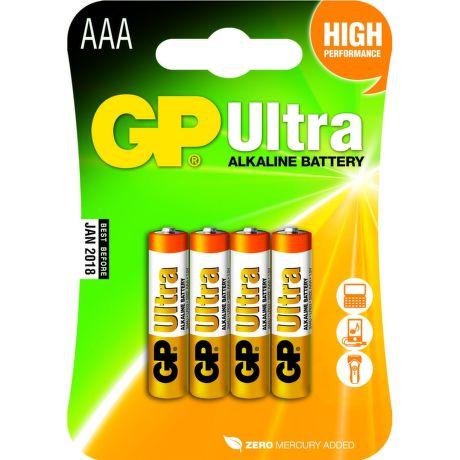 Batéria GP24AU-2U4 alkalická mikrotuž. (B1911) AAA 1,5V R03 (bal=4ks) Ultra (oranžová) GP 12430