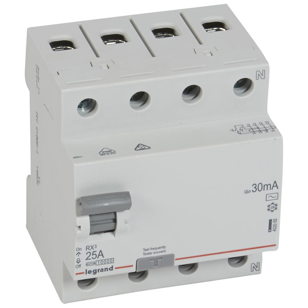 Chránič prúdový LE402062 RX3, 4p, 25A, 30mA AC 402062 LEGRAND 1000