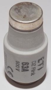 Vložka 002313403 poistková tavná 63A T DIII,E33 pomalá 63a2