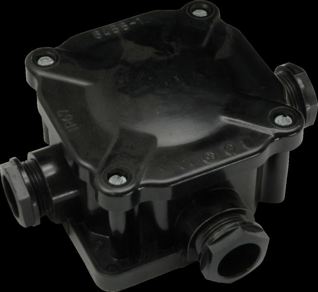 Rozvodka 6455-11, acedur malá, termoset, so svorkou, 5p, 4mm2, čierna, IP66 6455 11