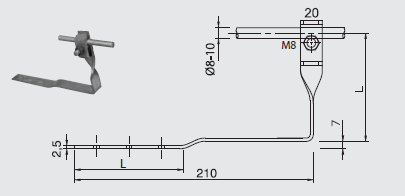 Podpera PV 22 na lepenkové a škridľové strechy FeZn ZIN (f313210) Bez nazvu 100