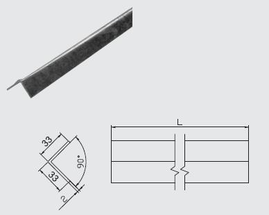 Uholník OU 2m ochranný 30x30mm FeZn ZIN (f511120) Bez nazvu 84