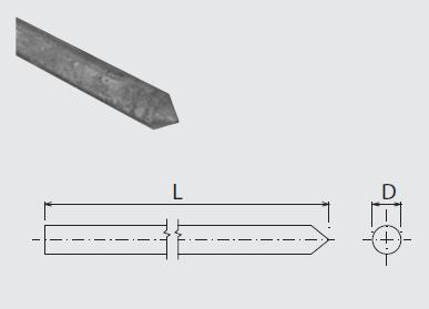 Tyč ZT 2m zemniaca (pr.25mm) FeZn ZIN (f712113) Bez nazvu 87