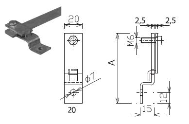 Podpera PV 44 na konštrukcie pre pásovinu 30x4mm FeZn ZIN (f315230) Bez nazvu 98
