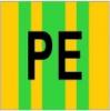 Samolepka č.E 019 SE (PE), 18x18mm žlto zelená E019