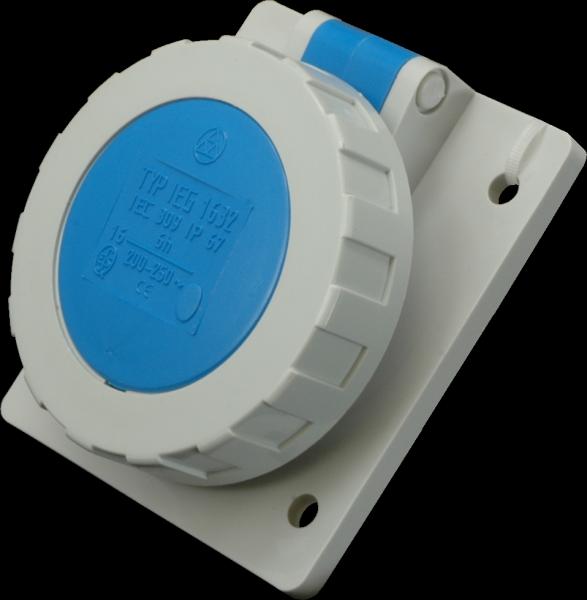 Zásuvka IEG 3232, 230V/32A, 3p, zapustená, IP67 ieg 1633