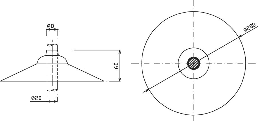 Strieška OS 01 ochranná horná (kruh, pr.20mm) FeZn ZIN (f221112) os 01 copy