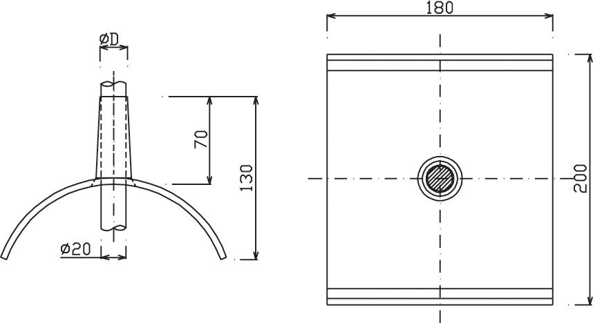 Strieška OS 04 ochranná spodná (hrebeňová, pr.20mm) FeZn ZIN (f221212) os 04 copy