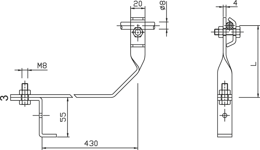 Podpera PV 11 pod škridľovú krytinu FeZn ZIN (f312110) pv 11 copy