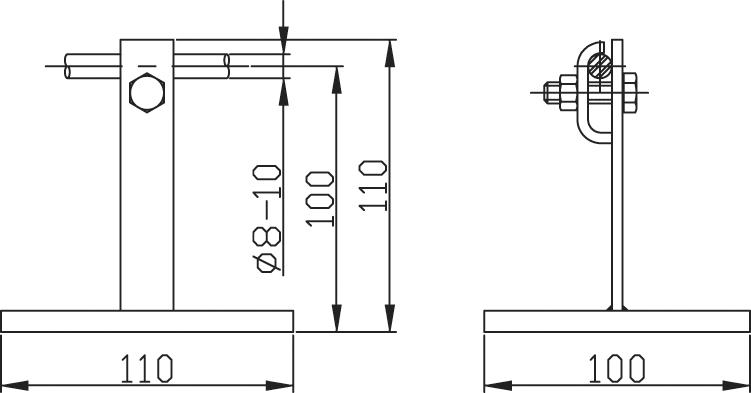 Podpera PV 21 oceľ na ploché strechy (kovová) ZIN (f313113) pv 21ocel copy