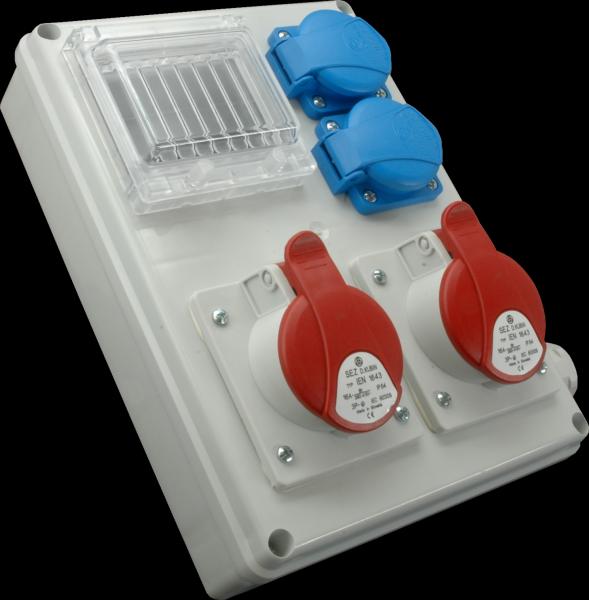 Rozvodnica zásuvková ROS-I 1603 A, 5P, 1x16A, 1x32A, 2x230V, IP44, priestor na ističe 4M ros i 1600 a