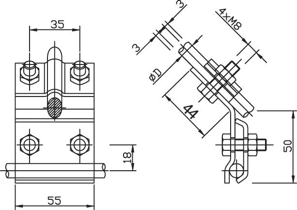 Svorka SO pre pripojenie odkvapových žľabov FeZn ZIN (f613312) so copy
