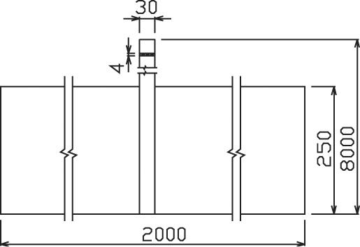 Doska ZD 01 s páskou uzemňovacia; 0,25x2m+8m pás 30/4 FeZn ZIN (f711125) zd 01 copy