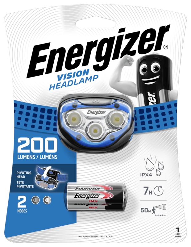 Čelovka LP08771 (HDA323) modrá Vision HEADLAMP 200 lumen 3xAAA Energizer (Vega) ebcba220dd54bec35086aa66204e22f6