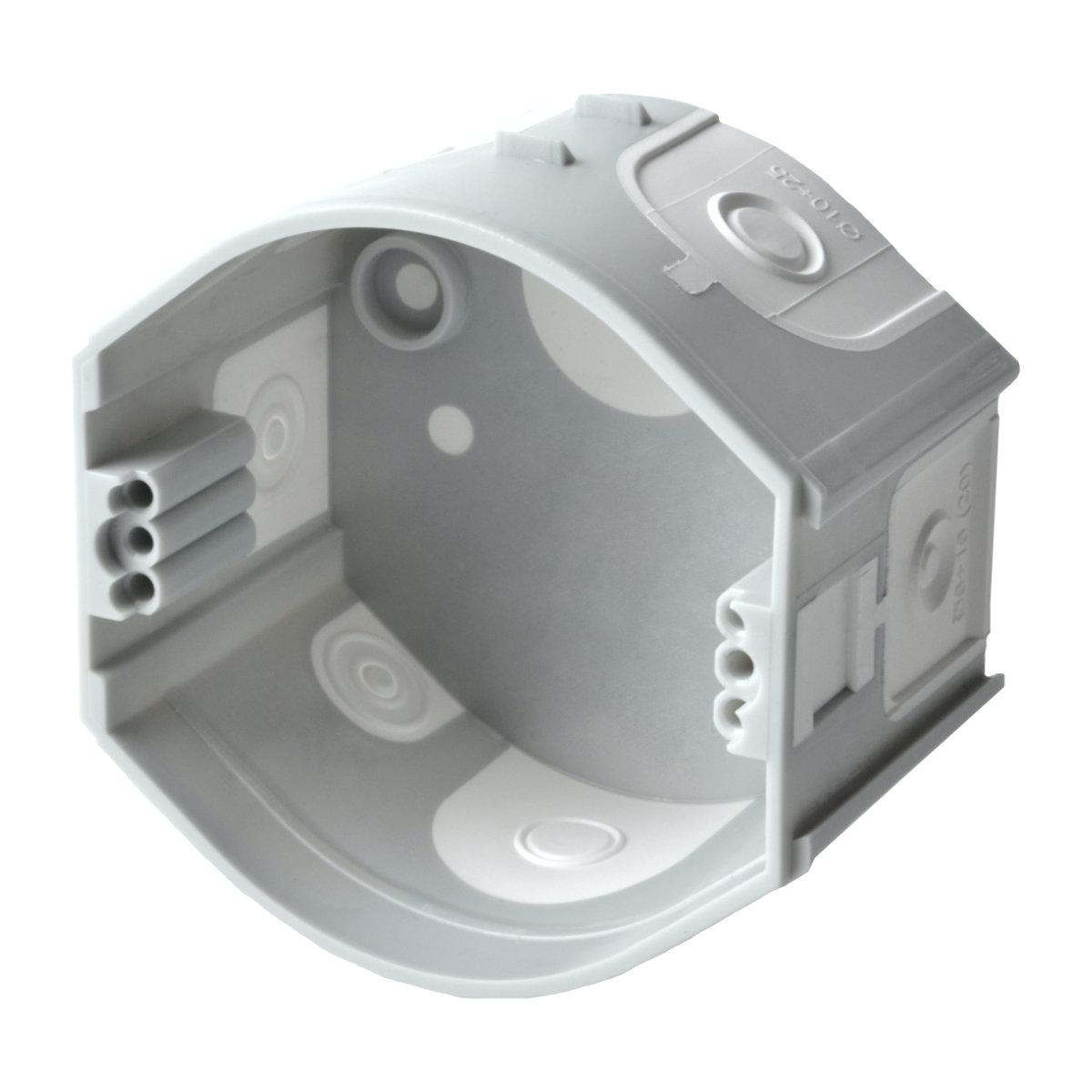 Škatuľa KP 68/D KA oválna pod omietku s membránami, spojovacia, prístrojová, 2x vrut (hĺbka 45mm) kp 68 d