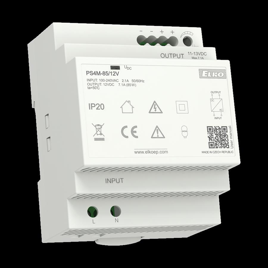 Zdroj napájací PS4M-92/24V 240VAC/24VDC 3,83A/92W (ELKO) psr4