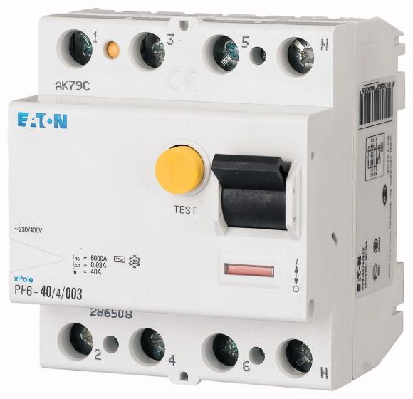 Chránič PF6-40/4/03 prúdový 40A 4P 300mA AC 6kA; č.286510 sg80011