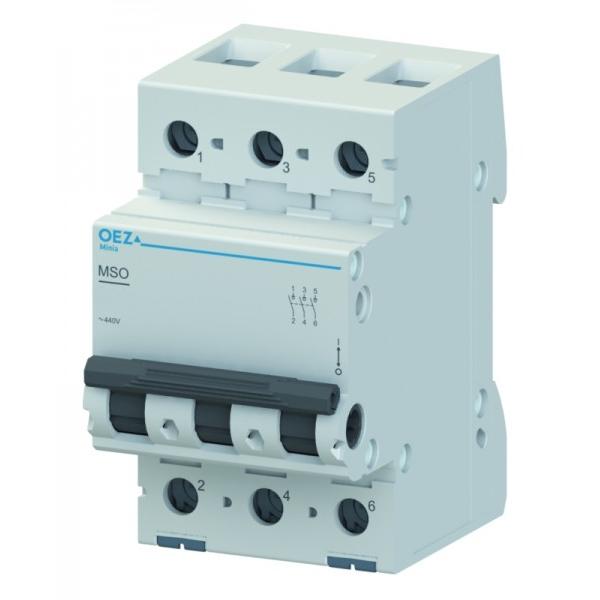 Vypínač MSO-40-3 (42335) modulárny 3P 40A MINIA spinac OEZ 42335